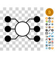 masternode links icon with bonus vector image vector image