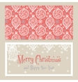 Merry Christmas Congratulations card with vector image vector image