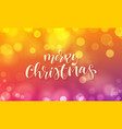 merry christmas greeting card calligraphy vector image vector image