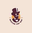 mister top hat logo vector image vector image