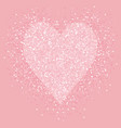 pastel pink glitter heart shimmer love vector image