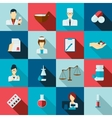 Pharmacist icon flat set vector image vector image