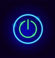 power on neon sign vector image