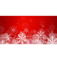 red christmas snowflakes background with light vector image vector image
