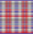 red plaid tartan fabric texture seamless pattern vector image