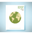 Report world map recycled paper craft stick vector image vector image