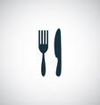 restaurant icon vector image vector image