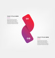ribbon-snake icons timelines gradient vector image vector image
