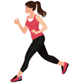 Running girl athlete vector image vector image