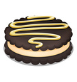Sandwich cookie with cream vector image vector image