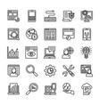 seo and web optimization line icons 2 vector image vector image
