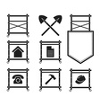 Set of Scaffolding Icons for web site vector image