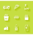 Set of white grocery and food icons vector image vector image