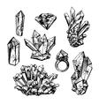 sketch of crystals vector image vector image