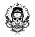 skull in a cap 2 vector image vector image