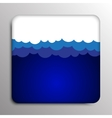 Square frame Clouds on a dark blue background vector image vector image