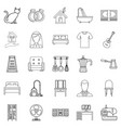stirpes icons set outline style vector image vector image
