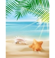 Summer vacation poster template vector image vector image