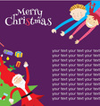 template christmas4 vector image vector image