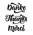 thank you phrase hand written lettering vector image vector image