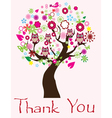thank you tree vector image vector image