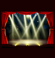 theater stage lights vector image vector image