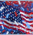 usa independence day background with confetti vector image