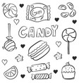 various candy doodles vector image vector image