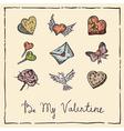 Vintage Valentine vector image