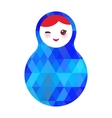 wink Russian dolls matryoshka with bright rhombus vector image