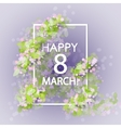 women day vintage background vector image vector image
