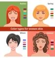 Women Skin Types Set vector image