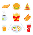 colorful fast food isolated on white vector image