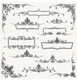 Vintage frames corners and dividers with vector image