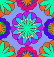 abstract mosaic seamless floral pattern vector image