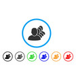 people squad rounded icon vector image