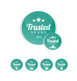 Trusted Brand icons vector image