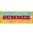 Vintage summer sign vector image
