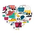 Colored Fashion Accessories Composition vector image