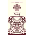 Invitation card in oriental tribal style Mandala vector image