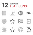 12 ui icons vector image vector image