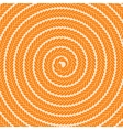 Abstract Orange Spiral Pattern vector image vector image