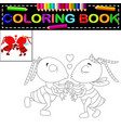 ant coloring book vector image vector image