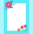 beautiful frame with flowers vector image vector image