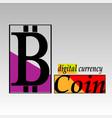 bitcoin emblem template vector image vector image