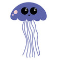 blue jellyfish on white background vector image vector image
