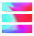 bright fashion colorful pink and blue web headers vector image vector image