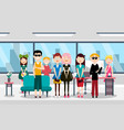 busines team in office group of people vector image vector image