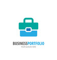business portfolio logo for business company vector image vector image