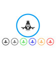 cargo plane rounded icon vector image vector image